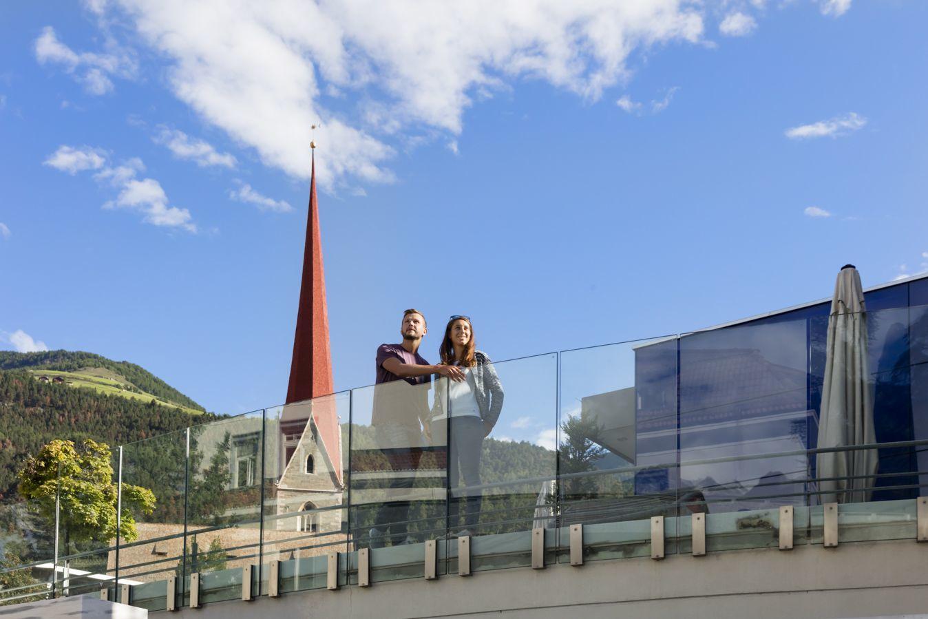 Kulturhausplatz Blick Kirchturm