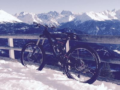 Mountainbike im Winter 01