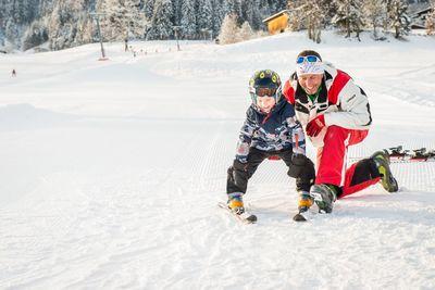 Skifahren lernen am Kolsassberg