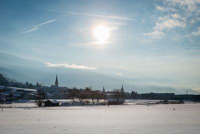 Winter landscape in Terfens