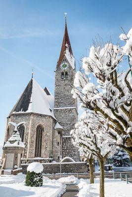 Pfarrkirche Jenbach im Winter