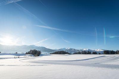 Cross-country ski track in Vomp