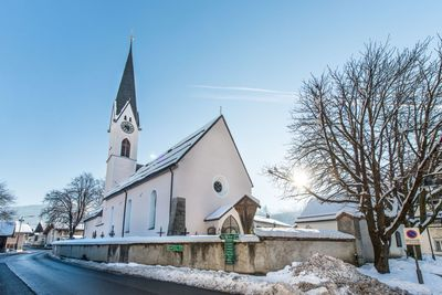 Church of Kolsass in winter