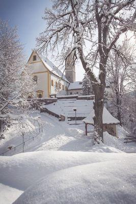 Wallfahrtskirche St. Georgenberg im Winter
